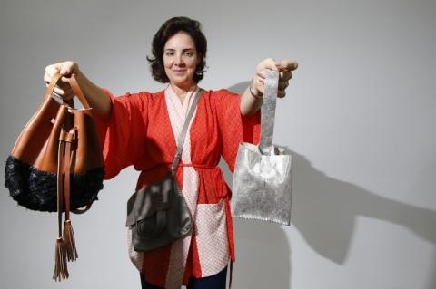 Fernanda Daudt, da Mole Bags, de Caxias do Sul, fala sobre seu projeto em visita ao Jornal do Comércio.