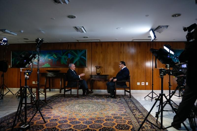 (Brasília - DF, 26/04/2017) Entrevista concedida pelo presidente Michel Temer ao apresentador Ratinho. Veiculada pelo SBT em 28/4/2017.