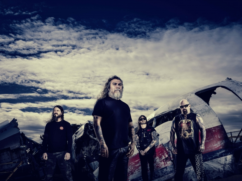 Banda de metal Slayer se apresenta no Pepsi On Stage hoje
