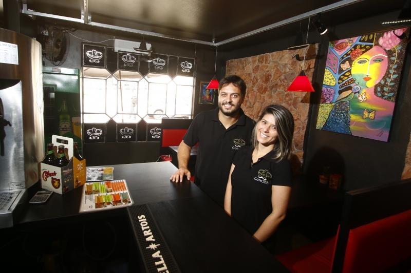 Lucas e Mariana montaram o espaço no Centro Comercial Itaimbé