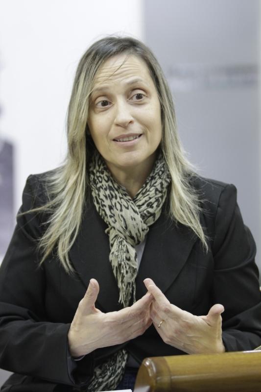 Visita de Glória Tassinari Yacoub, idealizadora do Estagiário Experiente, plataforma para recolocação de pessoas a partir de 40 anos no mercado de trabalho.