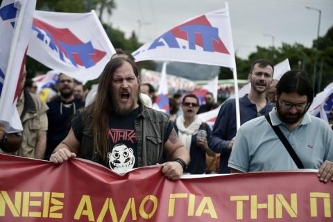 Jornalistas e trabalhadores da mídia fizeram uma caminhada contra pacote de austeridade nesta terça