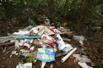 Nas curvas do caminho, lixo que se perde vira problema