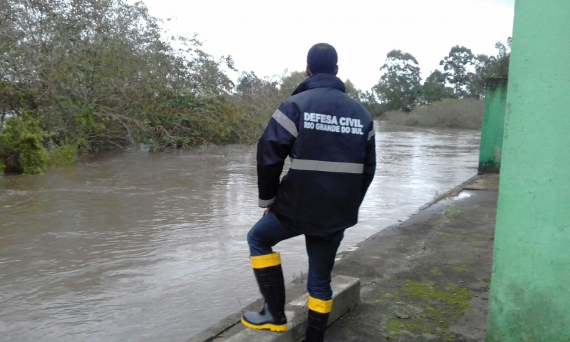 Chuva provoca cheias em Arroio Grande Crédito Defesa Civil