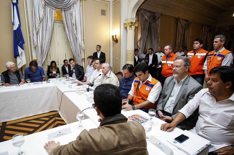 Recife - Presidente Michel Temer durante reunião sobre enchentes que atingem o Estado de Pernambuco..( Alan Santos/PR)