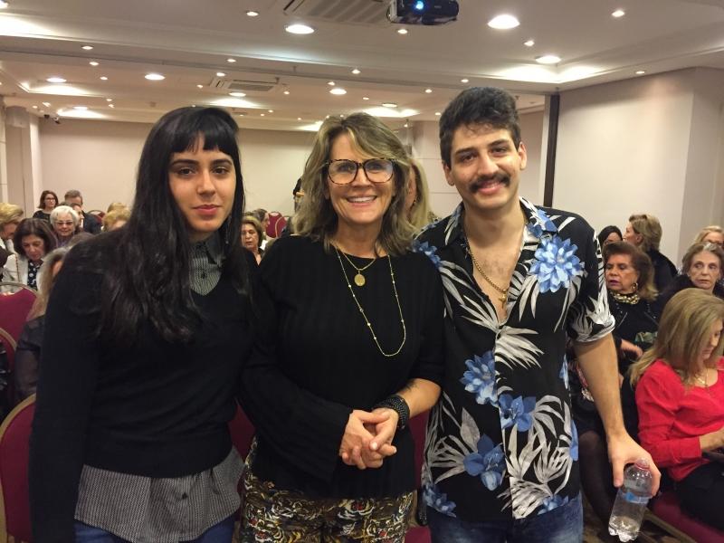Thelma Eloise Matos dos Santos, Angela Wolf e Luiz Carlos Wolf Chemale no Sheraton Hotel