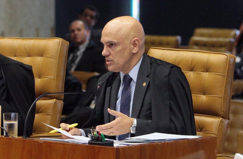 Ministro Alexandre de Moraes durante sessão do STF Foto: Carlos Moura/SCO/STF