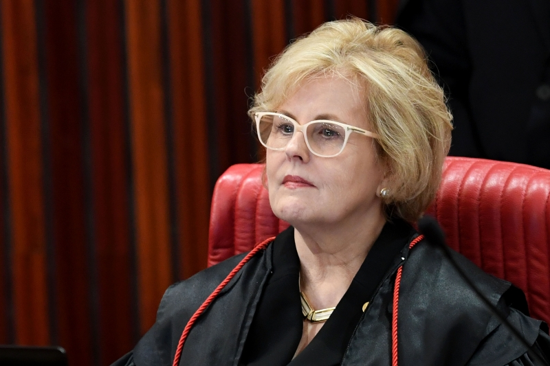 Supreme Electoral Court (TSE) Judge ROSA WEBER attends a session to decide whether to invalidate the 2014 presidential election because of illegal campaign funding, in Brasilia, on June 6, 2017. 