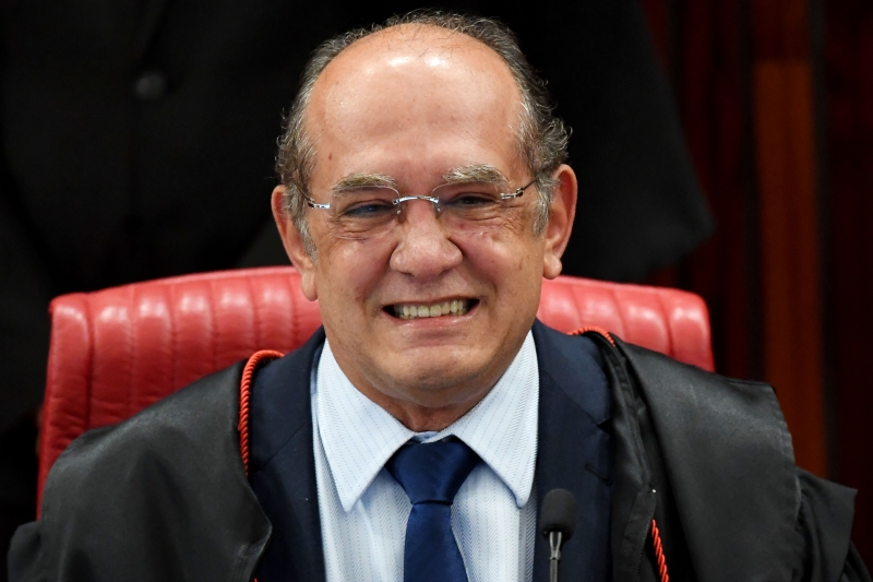 Supreme Electoral Court (TSE) President Gilmar Mendes speaks during the session examining whether the 2014 reelection of president Dilma Rousseff and her then vice president Michel Temer should be invalidated because of corrupt campaign funding, in Brasilia, on June 9, 2017. 