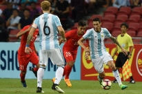 Sem Messi após bater Brasil, Argentina goleia Cingapura em amistoso na Ásia