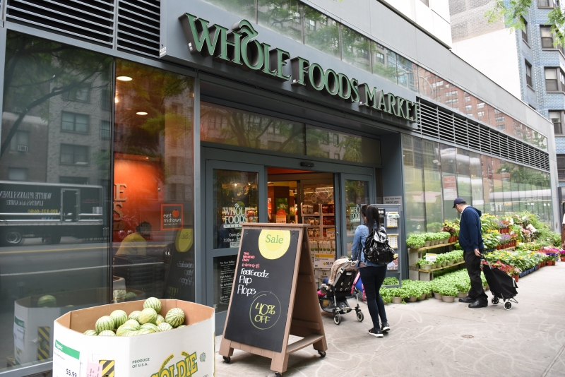 The Whole Foods Market in Midtown New York is seen on June 16, 2017. 