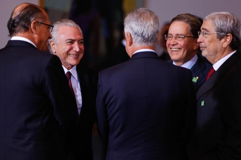 Brasília - Presidente Michel Temer se reúne com governadores durante jantar no Palácio da Alvorada (Marcos Corrêa/PR)