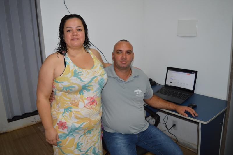 Tatiane e Juliano foram os primeiros conectados em Bozano