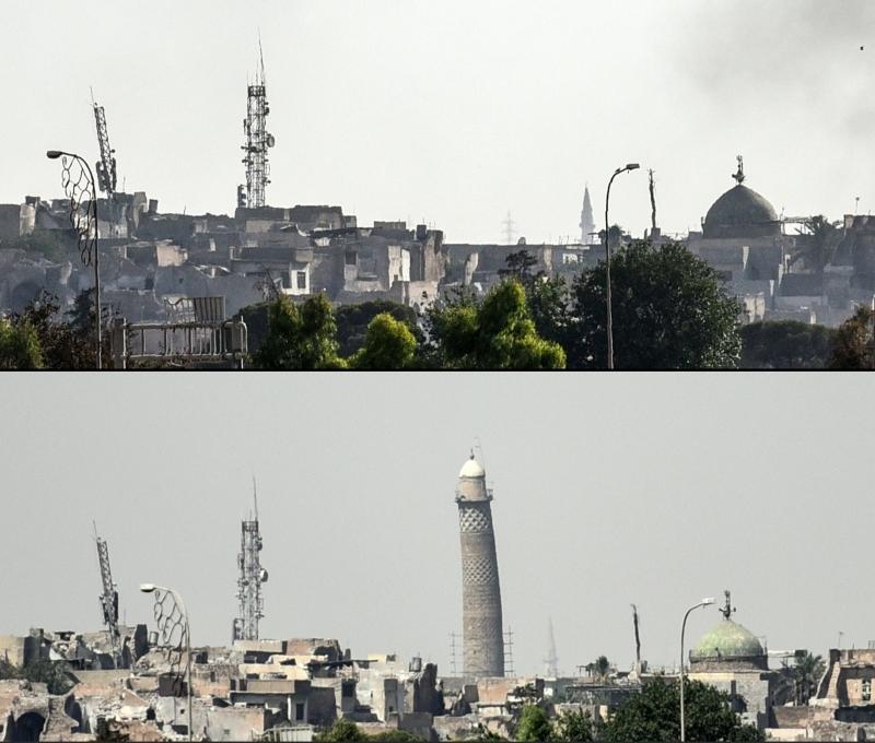 Icônico minarete inclinado de Mossul foi colocado abaixo por extremistas