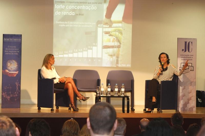 Liliane e Patrícia destacaram comportamento das famílias e impactos da crise