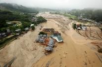 Sul do Japão enfrenta inundação sem precedentes