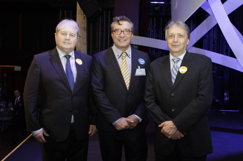 Nei Mânica, Personalidade Competitividade, com Sérgio Maia, presidente da ADVB, e Walter Lídio Nunes, da Celulose Riograndense