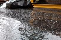 Estado registra neve granular em sete cidades