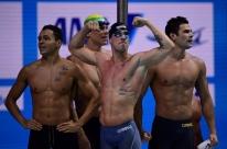 Brasil volta a brilhar no 4x100m livre e conquista a prata no Mundial