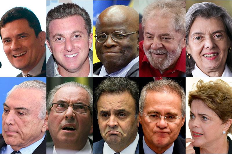 Pesquisa Ipsos mostra as personalidades mais populares e as mais impopulares no Brasil