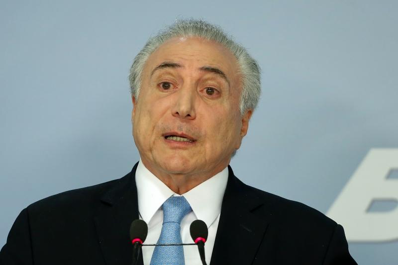 O presidente Temer disse que 'não participou nem participa de nenhuma quadrilha'