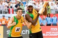 Evandro e André vencem austríacos e são campeões no Mundial de Vôlei de Praia