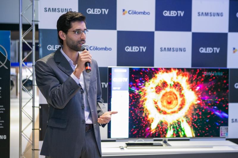Guilherme, gerente da Samsung, veio à Capital