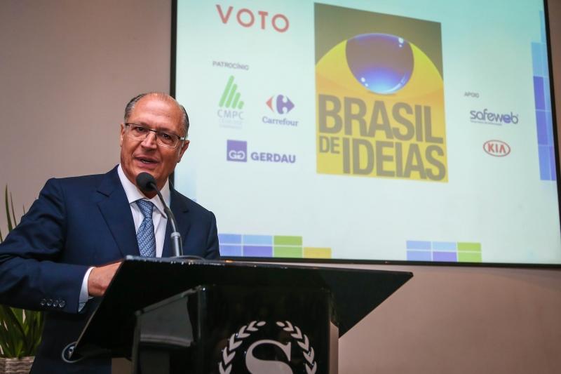 Governador de São Paulo foi o palestrante no evento Almoço Brasil de Ideias