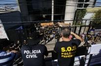 Servidores de Segurança Pública protestam contra propostas de Temer