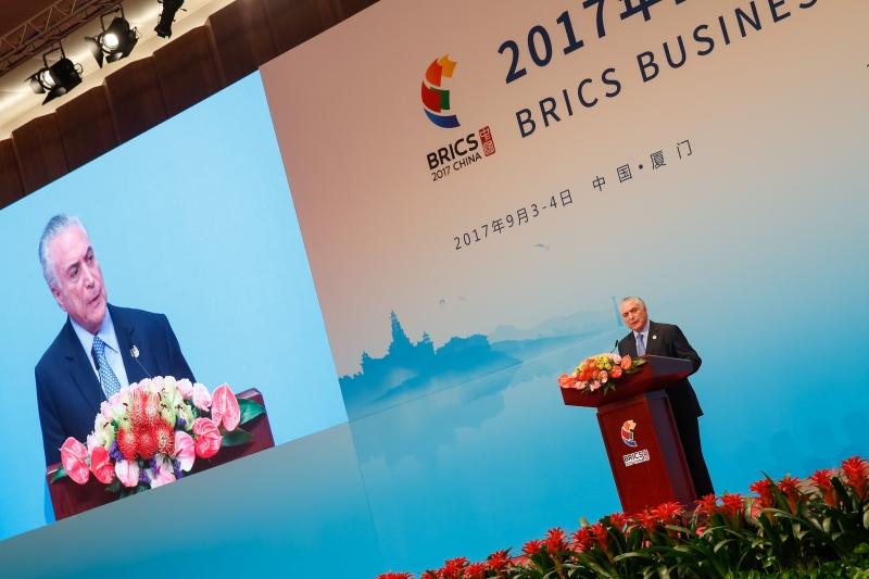 O presidente repetiu as linhas gerais do discurso que havia feito no dia anterior a empresários brasileiros