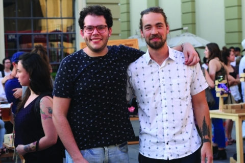 Gabriel Baron Bastos e Rodrigo Kronbauer, organizadores do Modaut