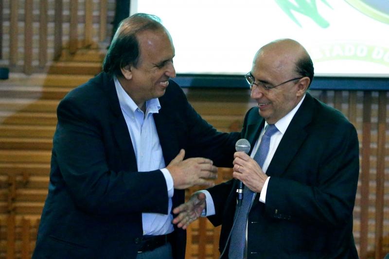 Pezão e Meirelles formalizaram plano de recuperação fiscal