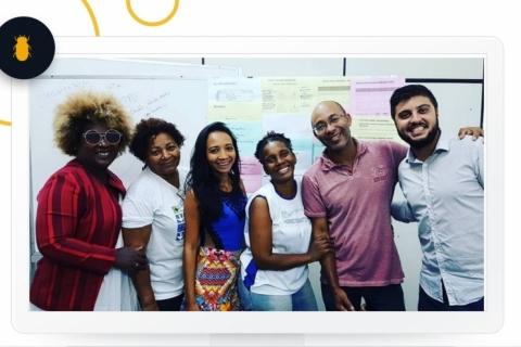 Mestre em Marketing Estratégico, Vinicius Mendes Lima, a direita, é o fundador da Agência Besouro