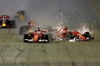 Vettel bate na largada e Hamilton amplia vantagem com vitória no GP de Cingapura