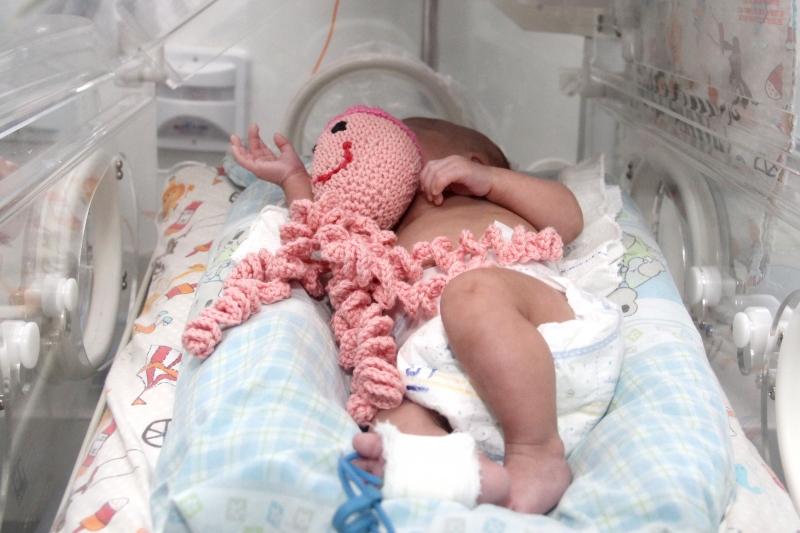 Estudos comprovam que, ao abraçar o brinquedo, os recém-nascidos se sentem mais calmos e protegidos