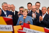 Merkel conquista o quarto mandato
