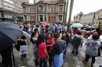 No segundo dia de greve, municipários voltam a protestar em Porto Alegre
