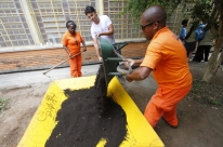 Estudantes se unem para revitalizar ambiente de escola da Zona Sul