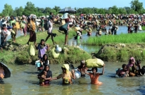 Imagens de satélite mostram áreas Rohingyas destruídas