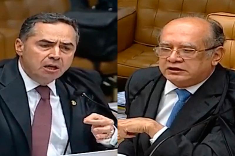 Resultado de imagem para Ministros Barroso e Gilmar Mendes trocam acusações durante sessão do STF