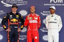 Vettel supera Verstappen e conquista a pole no México; Hamilton larga em terceiro
