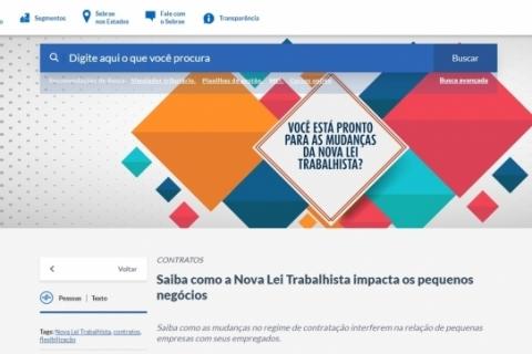 Sebrae lança página sobre a nova Lei Trabalhista