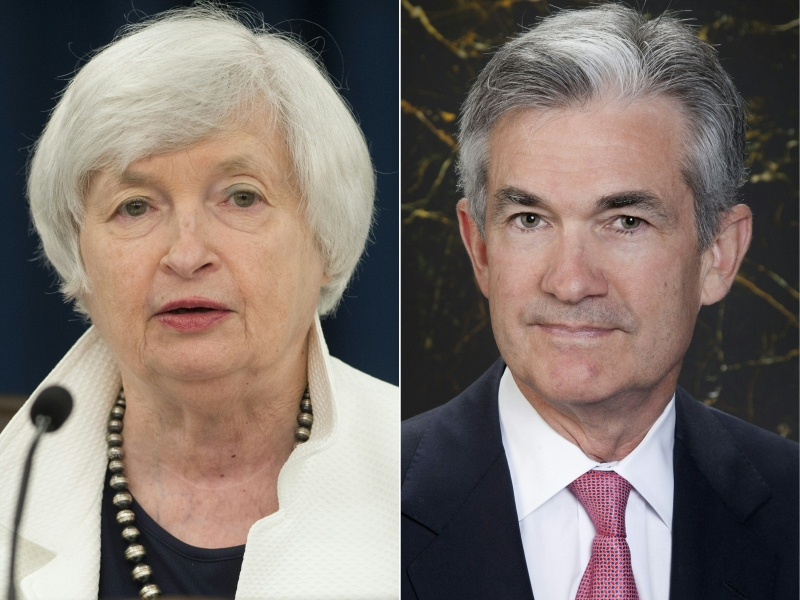 Powell (d) deve assumir o banco central no lugar de Janet Yellen