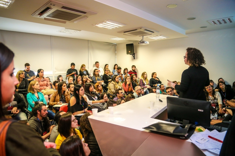 Público lotou as diversas salas da ESPM-Sul que sediaram o evento