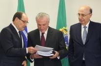 Sartori entrega a Temer proposta de pré-acordo do RS para recuperação fiscal