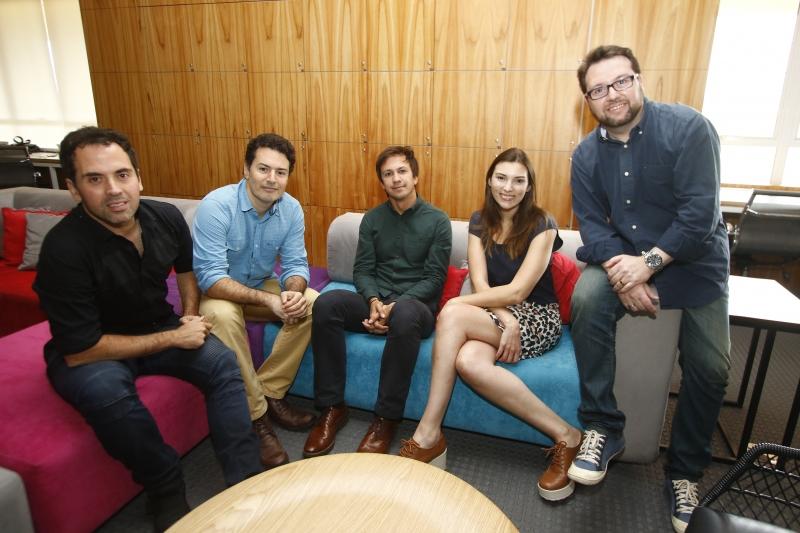 André, Marcelo, Igor, Érica e Cristiano trabalharam todos na mesma empresa antes de abrirem a Mr. Wolf