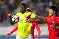 Colômbia é derrotada pela Coreia do Sul em amistoso de preparação para a Copa
