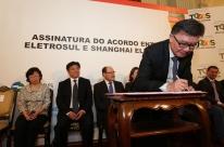 Shanghai e Eletrosul firmam acordo