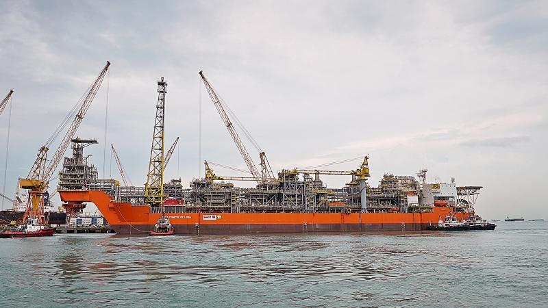 FPSO Pioneiro tem capacidade de produção de 50 mil barris diários de óleo