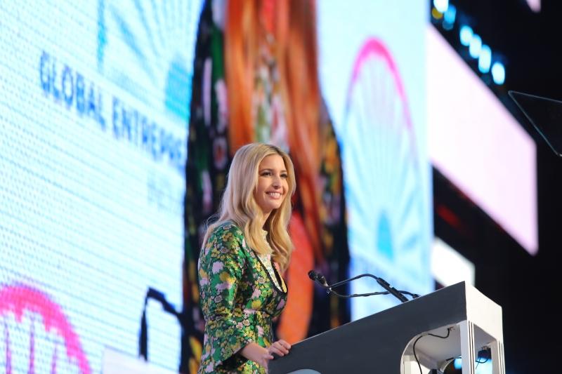 Convidada mais esperada do dia, Ivanka discursou na abertura da GES